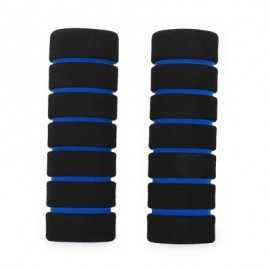 image of ONE PAIR SOFT SPONGE FOAM HANDLE HANDLEBAR GRIP COVER FOR ROAD MOUNTAIN BIKE (BLUE)