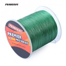 image of PROBEROS 500M DURABLE COLORFUL PE 4 STRANDS MONOFILAMENT BRAIDED FISHING LINE ANGLING ACCESSORY (GREEN) 60LBS