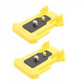 image of DAZZNE DZ-S1 2PCS QUICK RELEASE CONNECTION MOUNT BUCKLE FOR ACTION CAMERAS (YELLOW)