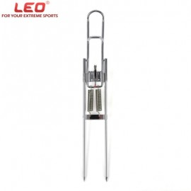 image of LEO AUTOMATIC DOUBLE SPRING ANGLE STEEL FISHING POLE BRACKET FISH EQUIPMENT TACKLE ACCESSORY (SILVER) -