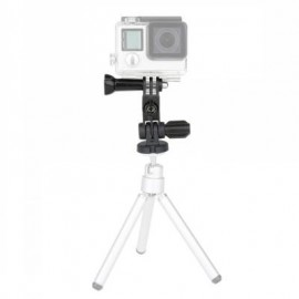 image of DAZZNE DZ-SG2 TWO AXIS ADJUSTABLE ANGLE MOUNT PIVOT ARM KIT FOR ACTION CAMERA (BLACK)