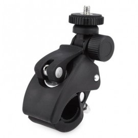 image of UNIVERSAL ALUMINUM ALLOY CYCLING BIKE BICYCLE FRAME CLIP HOLDER FOR DIGITAL ACTION CAMERA (BLACK)
