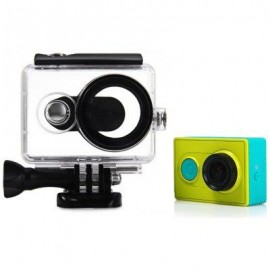 image of 40M WATERPROOF COVER CASE FOR XIAOMI YI ACTION SPORT CAMERA WITH OPTICAL FILM SURFACE (BLACK)