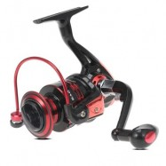 image of DB SERIES 6BB SPINNING FISHING REEL (BLACK AND RED) DB3000