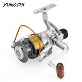 image of YUMOSHI 12BB 5.5:1 FOLDABLE METAL FISH SPINNING REEL (SILVER) ECR6000