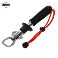 image of SEAKNIGHT SK002 STAINLESS STEEL FISHING GRIP TOOL WITH RED WRIST STRAP (BLACK) -