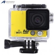 image of EKNIC A3 FULL HD WIFI 1080P WATERPROOF REMOTE SPORT ACTION CAMERA WITH STORAGE BOX (YELLOW)