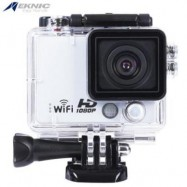 image of EKNIC A3 FULL HD WIFI 1080P WATERPROOF REMOTE SPORT ACTION CAMERA WITH STORAGE BOX (WHITE)