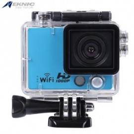 image of EKNIC A3 FULL HD WIFI 1080P WATERPROOF REMOTE SPORT ACTION CAMERA WITH STORAGE BOX (BLUE)