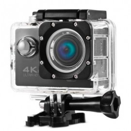 image of V60S 4K WIFI ACTION CAMERA 170 DEGREE FOV WITH 2.4G REMOTE CONTROLLER (BLACK) EU PLUG
