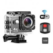 image of REMOTE CONTROL 4K WATERPROOF ACTION CAMERA FOR SPORTS (BLACK)