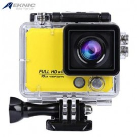 image of EKNIC X5 4K WIFI ACTION 170 DEGREE FULL HD SPORTS CAMERA WITH REMOTE CONTROLLER (YELLOW)