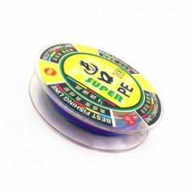 image of OUTDOOR FISHING 100 METERS PE FISHING LINE 8 WIRE DIAMETER (COLORMIX) 0.128MM