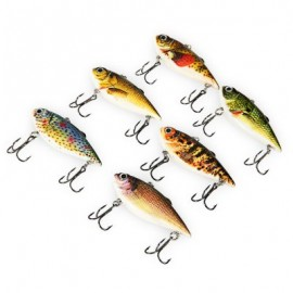 image of PROBEROS 6PCS OUTDOOR FISHING LURES BAIT WITH 2 HOOK (COLORMIX) -