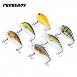 image of PROBEROS 6PCS 6 COLOR FISHING CRANKBAIT HOOK LURE BAIT (COLORMIX) -