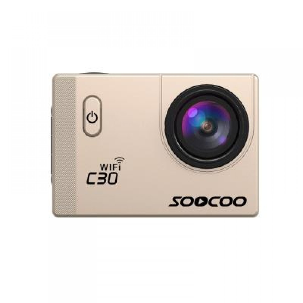 SOOCOO C30 SPORTS ACTION CAMERA WIFI 4K NTK96660 ADJUSTABLE VIEWING ANGLES(70-170 DEGREES) (GOLDEN)
