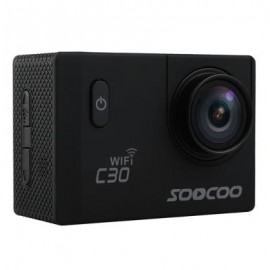 image of ORIGINAL SOOCOO C30 WIFI 170 DEGREE WIDE ANGLE 4K ULTRA HD ACTION CAMERA VOICE PROMPT 2.0 INCH SCREEN LOOP CYCLE RECORDING MOTION DETECTION (BLACK)