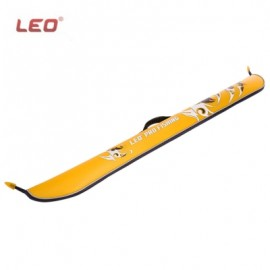 image of LEO WATER RESISTANT PORTABLE COLLAPSIBLE FISHING ROD BAG CASE WITH WIDE OPENING (YELLOW) -