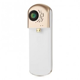 image of HIGOLE GOLE360 360 DEGREE PANORAMA VR ACTION SPORT CAMERA DUAL LENS 960P (CHAMPAGNE GOLD) MICRO USB