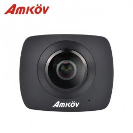 image of AMKOV AMK200S PANORAMA DUAL LENS WIFI ACTION SPORT CAMERA 960P LCD SCREEN TF CARD SLOT (BLACK)