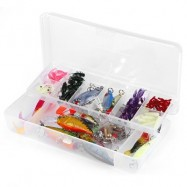 image of 101PCS ARTIFICIAL BAIT FISHING GEAR WITH MIXED HOOKS (COLORFUL) 0