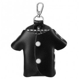 image of UNISEX CLOTHES SHAPE RIVET EMBELLISHMENT SOLID COLOR KEY CASE (BLACK) 12.30 x 1.80 x 11.60 cm