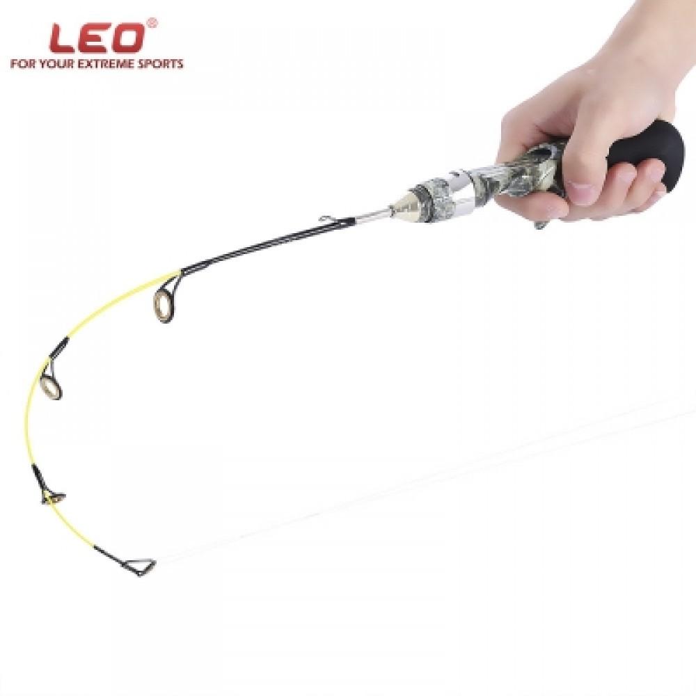 LEO PROFESSIONAL GUN TYPE ICE FISH POLE FISHING ROD (CAMOUFLAGE) 50CM