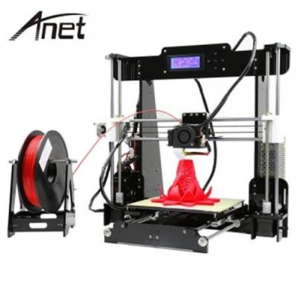 ANET A8 3D DESKTOP ACRYLIC LCD SCREEN PRINTER (BLACK) UK PLUG