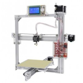 image of ANET A2 PLUS ALUMINUM METAL 3D THREE-DIMENSIONAL DIY PRINTER WITH TF CARD OFF-LINE PRINTING / OPTIONAL LCD DISPLAY (SILVER) EU PLUG
