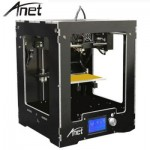 ANET A3 HIGH PRECISION FULL ALUMINUM PLASTIC FRAME ASSEMBLED 3D PRINTER LCD DISPLAY SUPPORT 16GB TF CARD (BLACK) EU PLUG