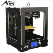image of ANET A3 HIGH PRECISION FULL ALUMINUM PLASTIC FRAME ASSEMBLED 3D PRINTER LCD DISPLAY SUPPORT 16GB TF CARD (BLACK) EU PLUG