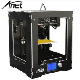 image of ANET A3 HIGH PRECISION FULL ALUMINUM PLASTIC FRAME ASSEMBLED 3D PRINTER LCD DISPLAY SUPPORT 16GB TF CARD (BLACK) EU PLUG