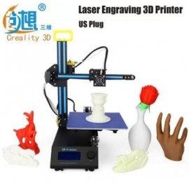 image of CREALITY3D CR - 8 2 IN 1 LASER ENGRAVING 3D DESKTOP PRINTER LCD SCREEN DISPLAY (BLACK) US PLUG