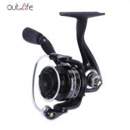 image of OUTLIFE 5 + 1 BALL BEARING METAL SPOOL SPINNING FISHING REEL (BLACK) BD500