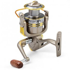 image of GS - METAL SPOOL SPINNING FISHING REEL FOLDING ARM 8-BALL BEARING 5.2 : 1 (SILVER GRAY, SIZE 3000/4000/5000/6000/7000) 3000