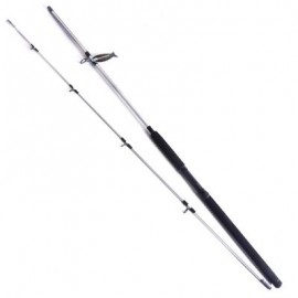 image of YIYA PLUGABLE FISHING ROD MEDIUM 2.4M / 2.7M SLIVER 2 SECTIONS (SILVER) 2.7M
