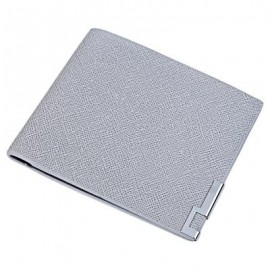 image of CATEGORY  Search SOLID COLOR HORIZONTAL SHORT OPEN WALLET FOR MEN WOMEN (GRAY) HORIZONTAL