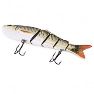 image of 5 JOINTED SECTIONS MULTI-JOINTED FISHING LURE HARD PLASTIC BAIT WITH TREBLE HOOKS (#2) -