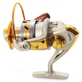 image of EF - 1000-7000 METAL SPOOL SPINNING FISHING REEL (GOLD) 7.40 x 12.05 x 11.50 cm