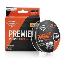 image of PROBEROS STRONG 300M 8 STRAND WEAVE PE BRAIDED FISHING LINE (BLACK) 1.5(20LB)