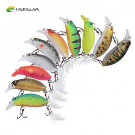 image of HENGJIA 10PCS 10 COLORS FISHING TACKLE HOOK CRANKBAIT LURE BAIT (COLORMIX) -