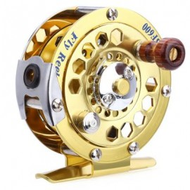 image of BF600 PORTABLE ALUMINUM CUT FLY FISHING VESSEL REELS (GOLDEN) One Size