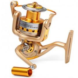 image of HF - 7000 METAL SPOOL SPINNING FISHING REEL FOLDING ARM 10-BALL BEARING 5.5 : 1 (CHAMPAGNE, SIZE 3000/4000/5000/6000/7000) 3000