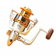 image of 5.2/1GEAR RATIO SALTWATER/FRESHWATER METAL FISHING SPINNING REEL (GOLDEN) EF4000