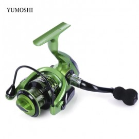image of YUMOSHI 13 + 1BB METAL SPINNING REEL FISHING TACKLE WITH FOLDABLE HANDLE (GREEN) XF5000