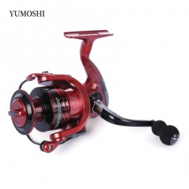 image of YUMOSHI 13 + 1BB METAL SPINNING REEL FISHING TACKLE WITH FOLDABLE HANDLE (RED) XF5000