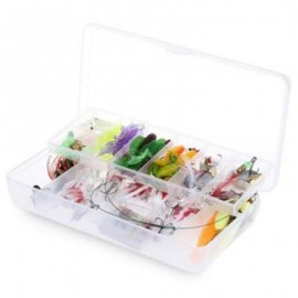 image of 100PCS SIMULATION LIFELIKE FISH SHAPED HARD FISHING LURE WITH SHARP HOOKS (COLORMIX) -
