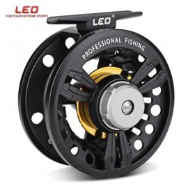 image of LEO FB - 85 2 + 1BB ALUMINUM ALLOY ICE FLY FISHING REEL (BLACK) 0