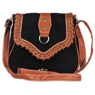 image of NATIONAL STYLE HOLLOW DESIGN ZIPPER HASP LADIES SOFT BAGS -
