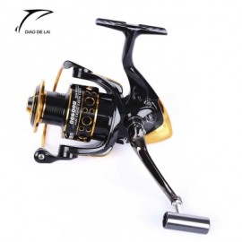 image of DIAO DE LAI 12 + 1 BALL BEARINGS COIL WHEEL TACKLES METAL SPOOL SPINNING FISHING REEL (COLORMIX) 1000